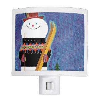 Skis for Snowman Night Light