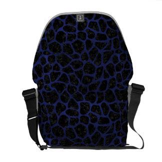 SKN1 BK-MRBL BL-LTHR (R) COURIER BAG