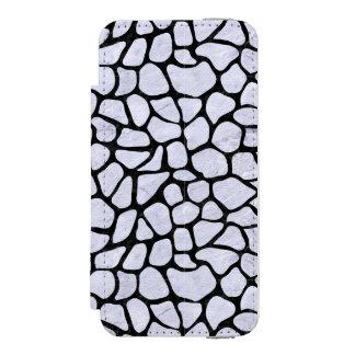 SKN1 BK-WH MARBLE INCIPIO WATSON™ iPhone 5 WALLET CASE