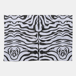 SKN2 BK-WH MARBLE (R) HAND TOWELS