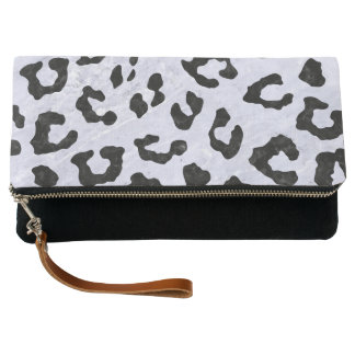 SKN5 BK-WH MARBLE CLUTCH