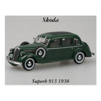 Skoda Superb 913 1938 Postcard