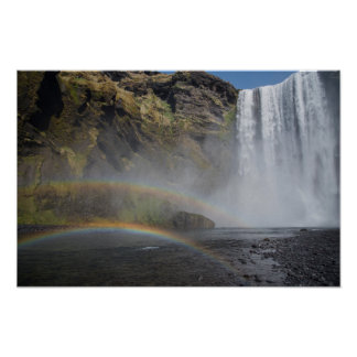 Skógafoss Waterfall, Iceland Poster