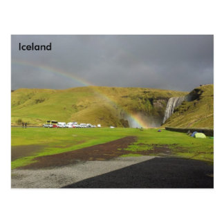 Skógafoss Waterfall, Skógá River, South Iceland Postcard
