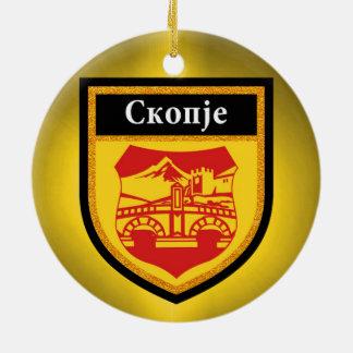 Skopje Flag Ceramic Ornament