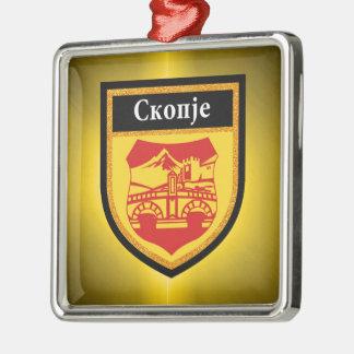 Skopje Flag Metal Ornament