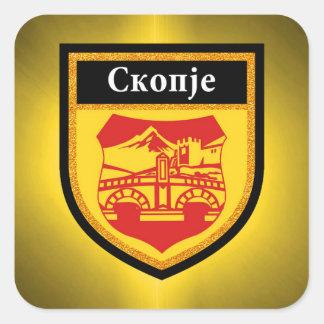 Skopje Flag Square Sticker