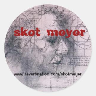 skot meyer classic round sticker