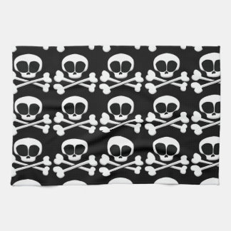 skull005_92007 SKULL CROSSBONES SYMBOL GANGSTER EM Kitchen Towel