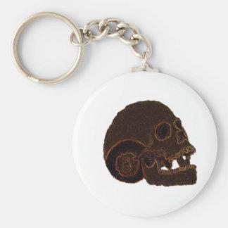 skull2 basic round button keychain