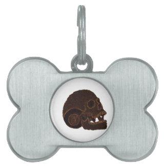 skull2 pet name tag