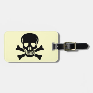 skull 01 luggage tag