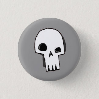 Skull 16-Grey 1 Inch Round Button