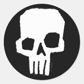Skull 19 classic round sticker