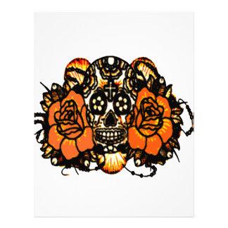 Skull 1 customized letterhead