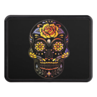 Skull_20170301_by_JAMColors Trailer Hitch Cover