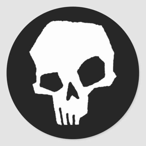 Skull 24 classic round sticker