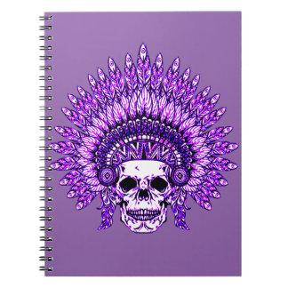 Skull 3 spiral notebook