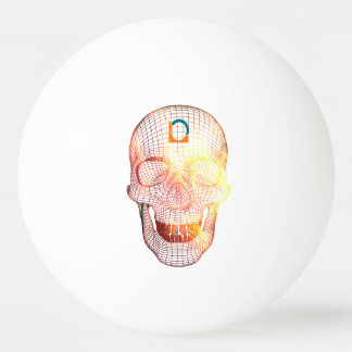 Skull 3D colored Ping-Pong Ball