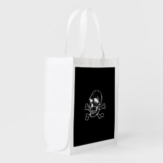 Skull 816 (Halloween) Reusable Grocery Bags
