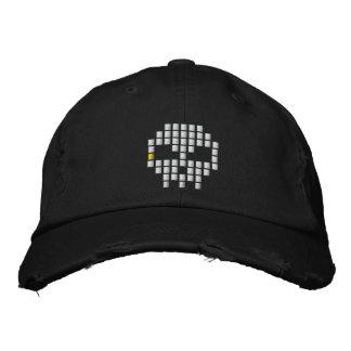 Skull 8 - Bit Embroidered Baseball Cap