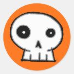Skull 9-Orange Stickers