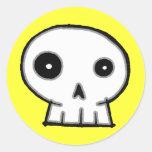 Skull 9-Yellow Stickers