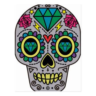 Skull Abstract Postcard