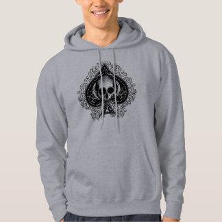 Skull Ace of Spades Hooded Sweatshirts
