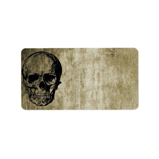 Skull Address Label