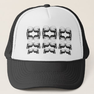 Skull Advanced Profile Dark Protect Trucker Hat