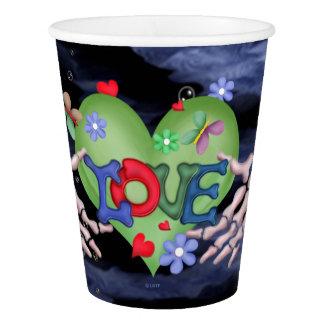 SKULL ALIEN MONSTER CARTOON Paper Cup, 9 oz Paper Cup