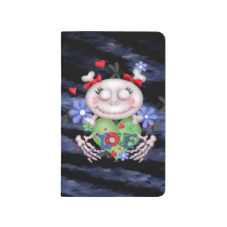 SKULL  ALIEN MONSTER CARTOON Pocket Journal