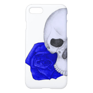 Skull and Blue Roses iPhone 8/7 Case