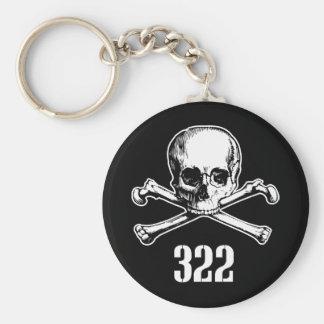 Skull and Bones 322 Basic Round Button Keychain
