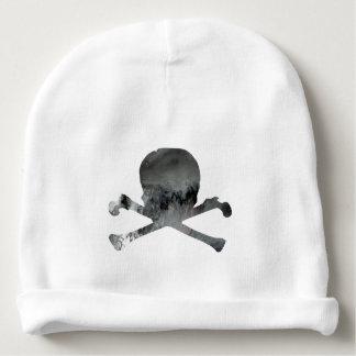 Skull and bones baby beanie