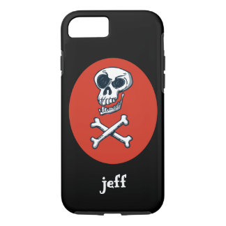 skull and bones cartoon style illustration Case-Mate iPhone case