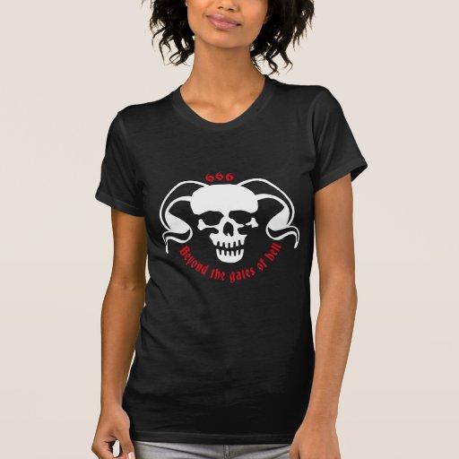 skull and bones devil tee shirt