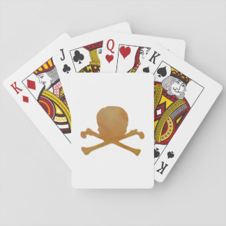 Skull and bones playing cards