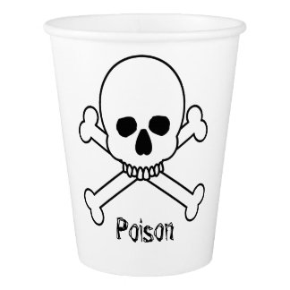 Skull And Bones poison Paper Cup