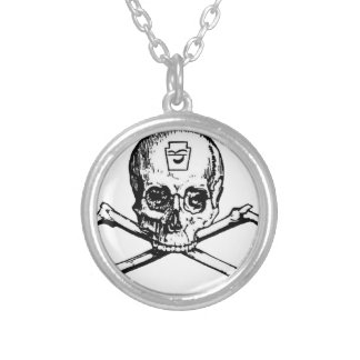 Skull and Bones - Secret Society Silver Plated Necklace