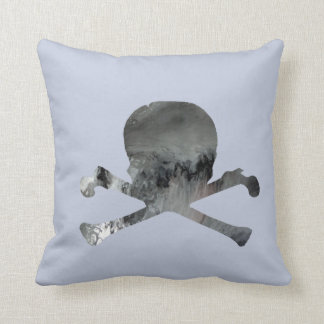 Skull and bones throw pillow