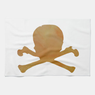 Skull and bones towel