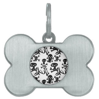 skull and bones v3 pet tags