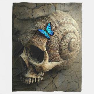 Skull and Butterfly Fleece Blanket