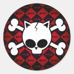 Skull and Cat Bones Stickers