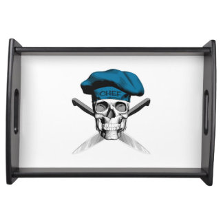 Skull and Chef Knives: Blue Hat Service Trays