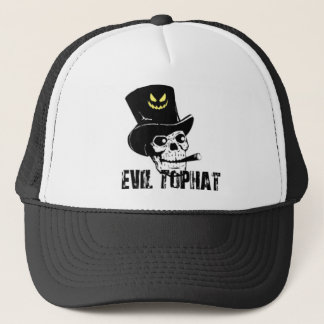 Skull And Cigar Evil Top Hat