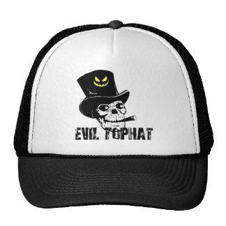 Skull And Cigar Evil Top Hat