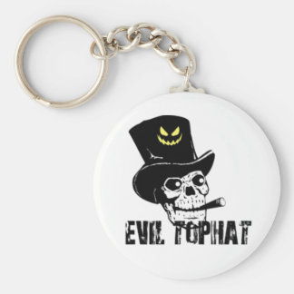 Skull And Cigar Evil Top Hat Keychain